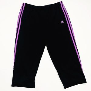 Adidas Capri Pants-- Black & Purple